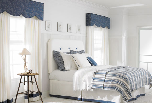 Peoria upholstered cornice boards